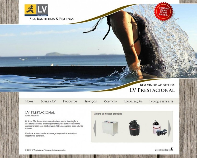 websites - Site LV Prestacional
