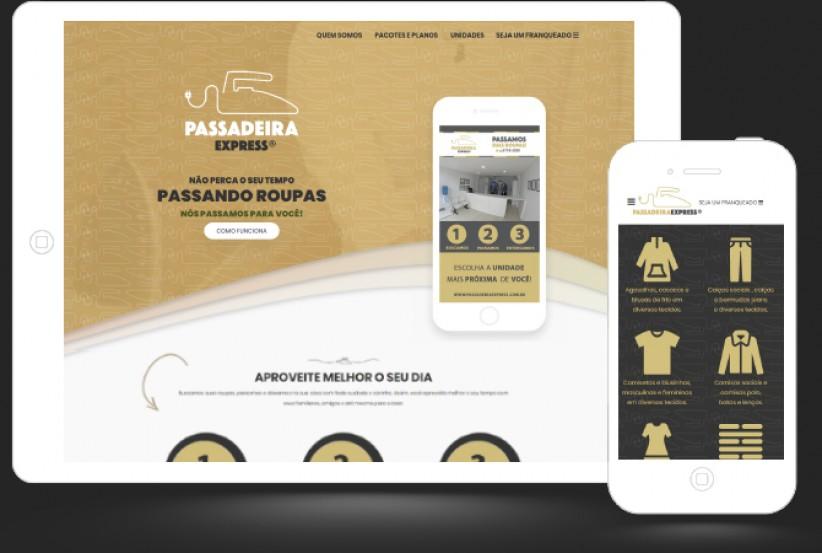 websites - Criação site Passadeira Express Franchising