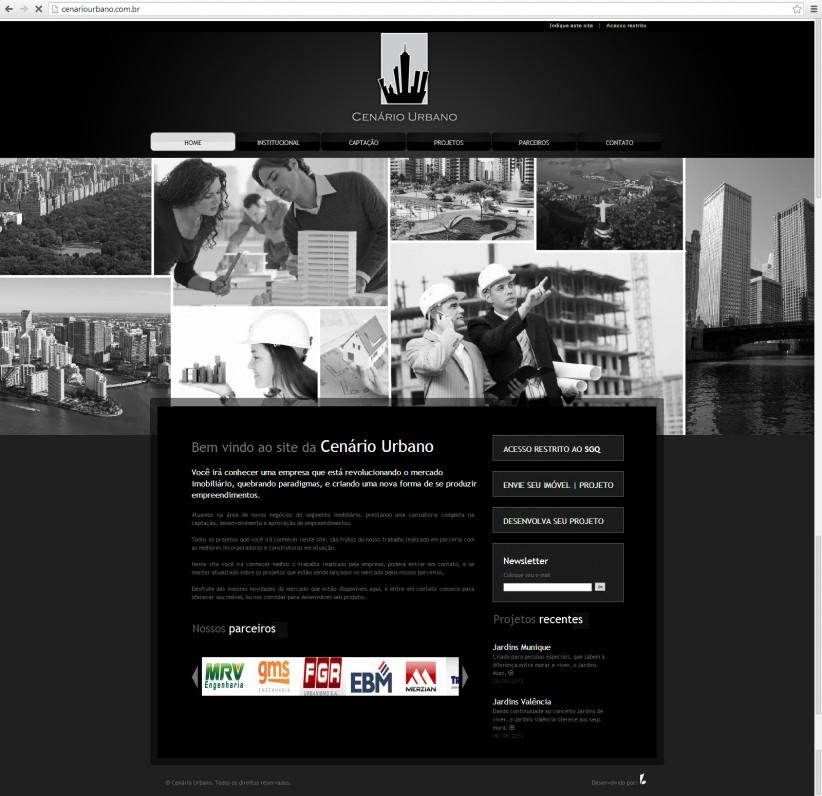 websites - Site Cenário Urbano