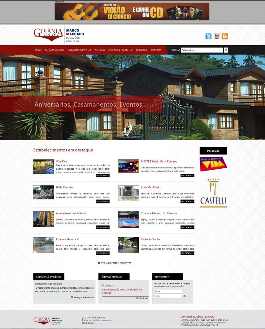 websites - Goiânia Eventos