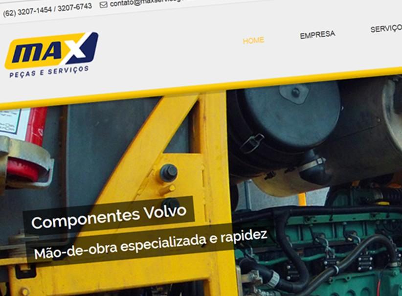 websites - Criação site Max Peças e Serviços