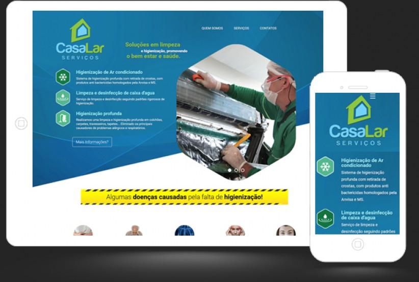 websites - Landing Page CasaLar Serviços