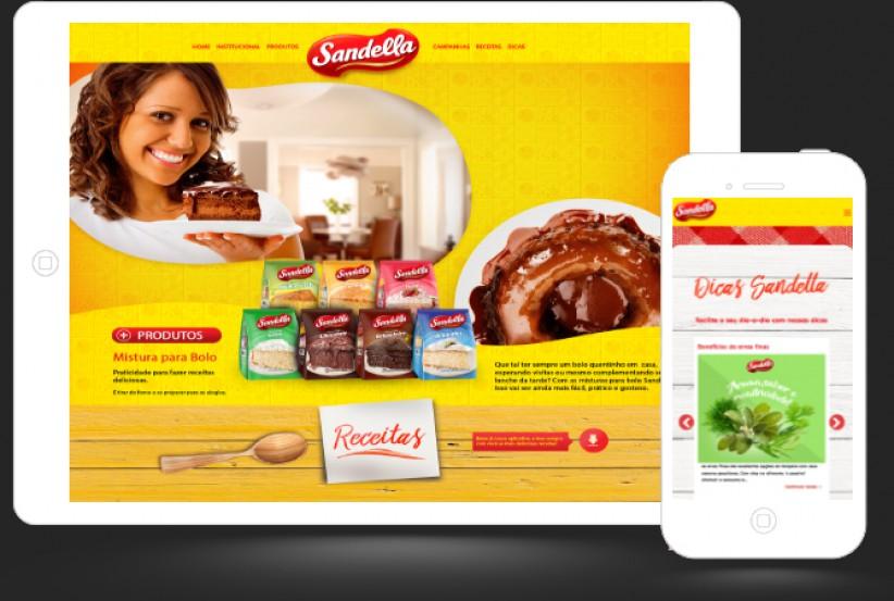 websites - Criação site Sandella