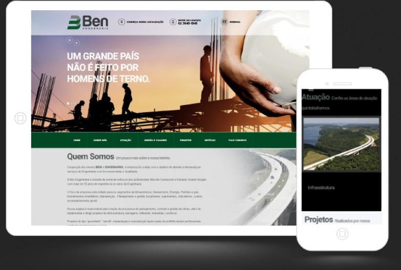 websites - Criação Site BEN ENGENHARIA