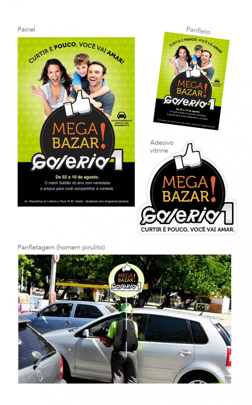 campanhas publicitárias - Campanha para Galeria 1