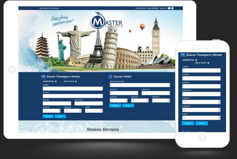 websites - Criação do site Master Turismo