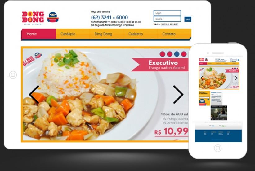 websites - Atualização site Ding Dong Delivery