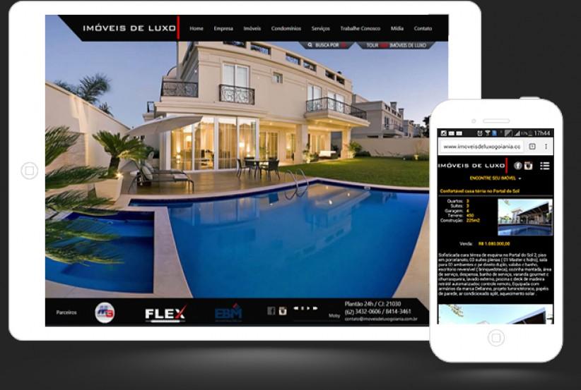 websites - Criação do site da Imobiliária Imóveis de Luxo