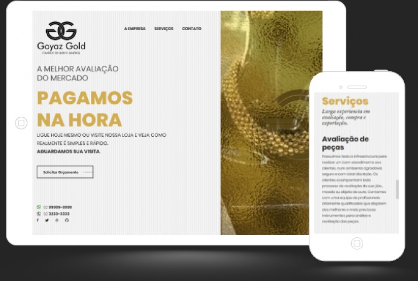 websites - Criação site Goyaz Gold