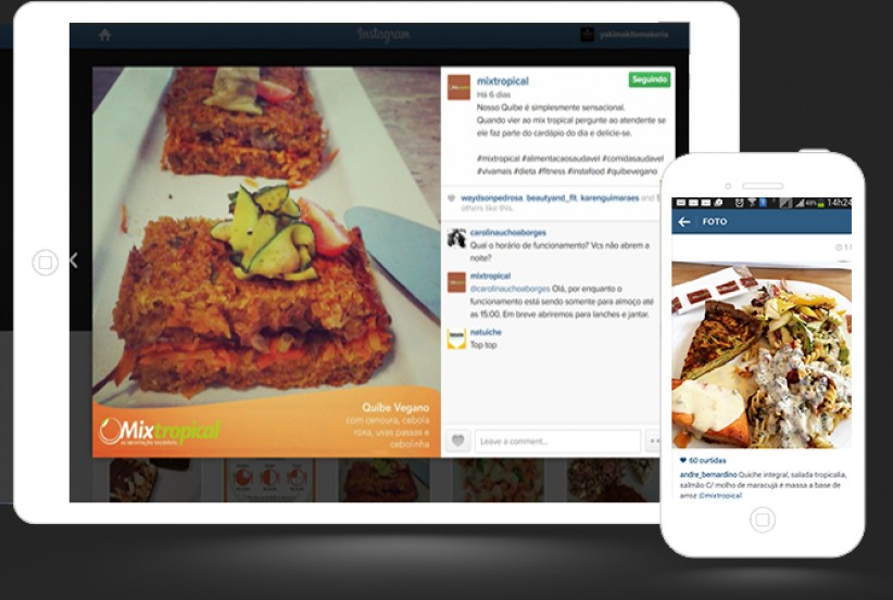 marketing digital - Gerenciamento Conteúdo Instagram Restaurante Mix Tropical