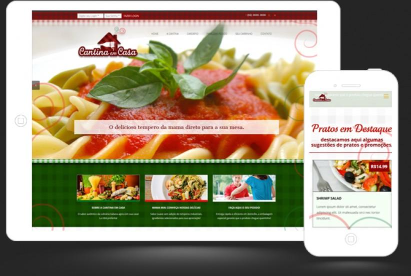 websites - Criação site Cantina em casa