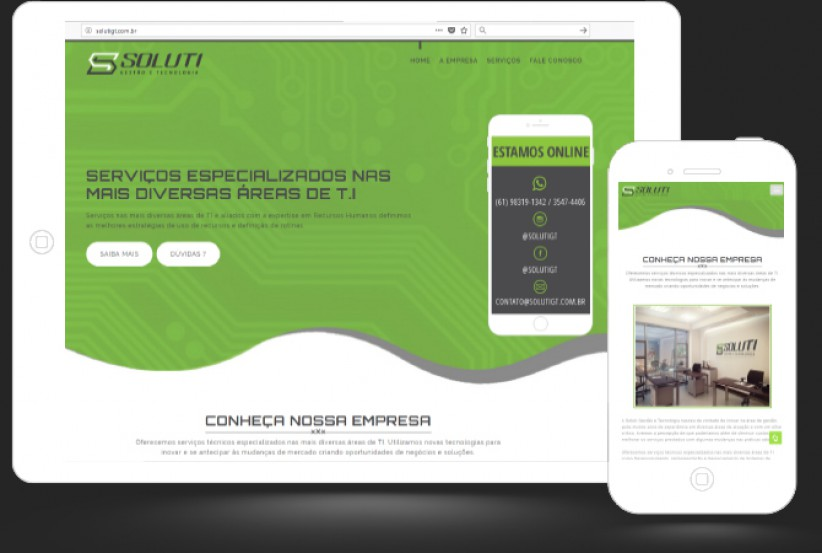 websites - Criação site Soluti Gestão e Tecnologia