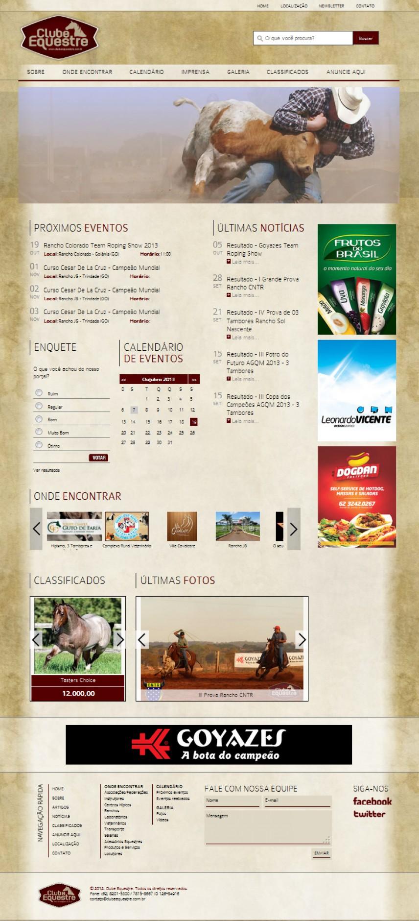 websites - Portal Clube Equestre