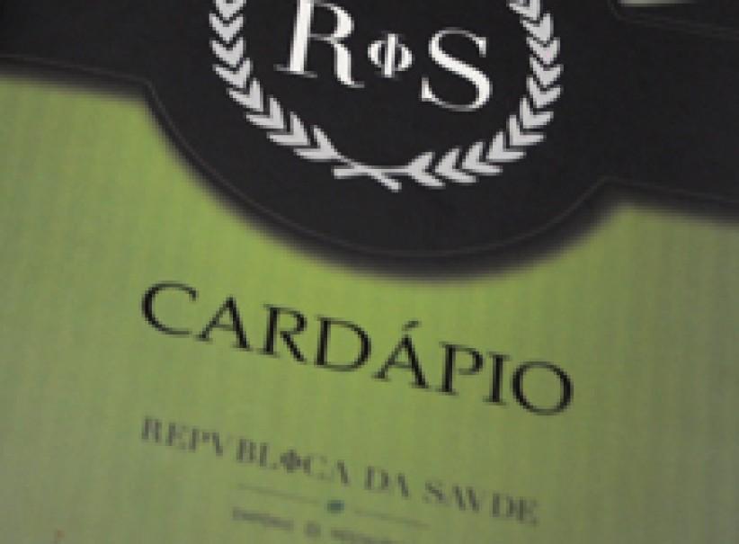 impressos - Cardápio República da Saúde