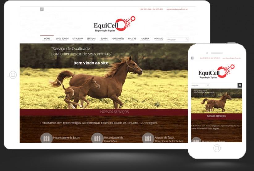 websites - Criação do site da Equicell Reprodução Equina