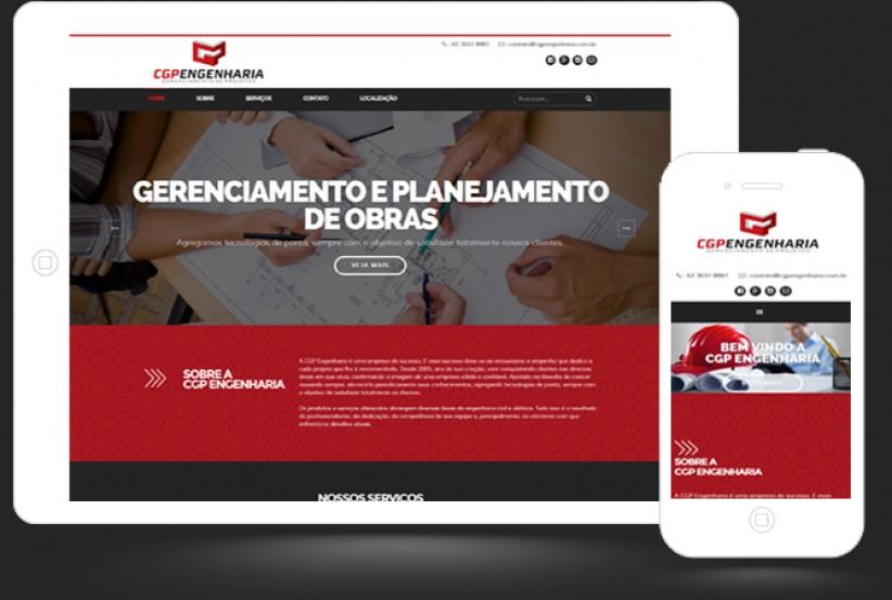 websites - Criação site CGP Engenharia