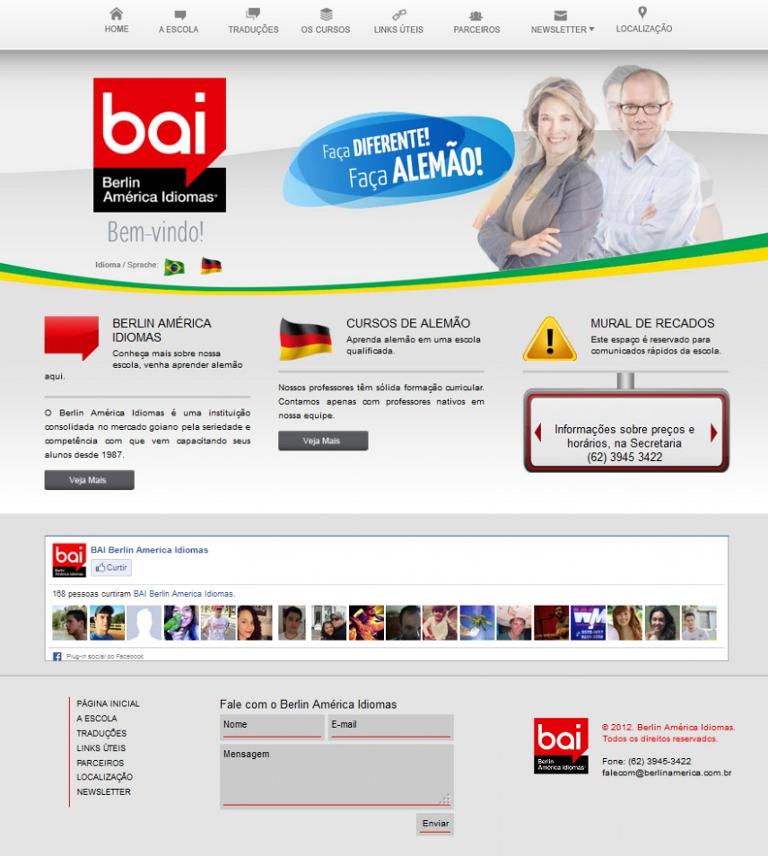 websites - Berlin América Idiomas